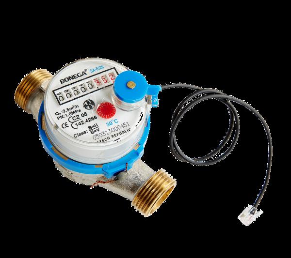 Wasser Sensor mit Wasserzähler (warm- oder kalt)