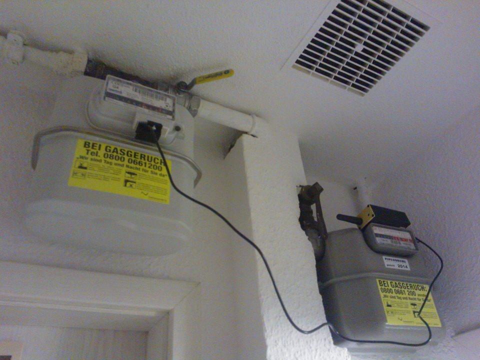 Gaszähler Impuls Sensor zur Messung vom Gasverbrauch