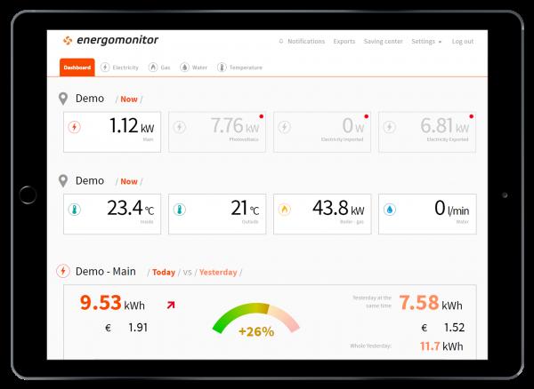 Energomonitor Portal Startansicht