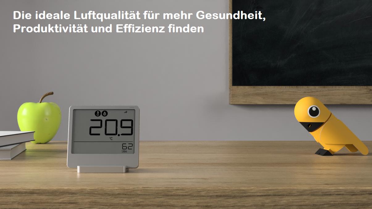 Luftqualität messen Temperatur CO2 Luftfeuchtigkeit