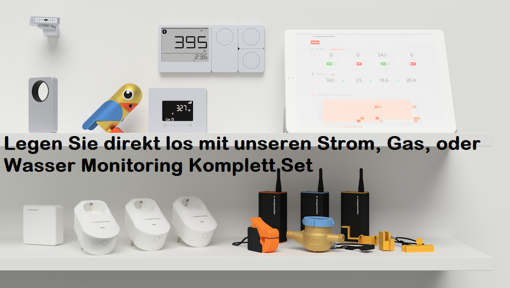 Strom, Gas, Wasser Monitoring Set